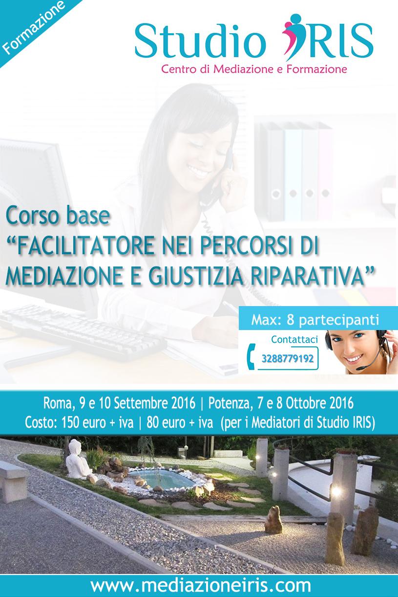 Locandina_Corso_FacilitatorePercorsiMediazionePenale.StudioIRIS